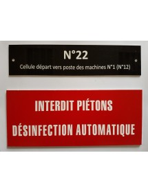 Exemple plaque signalétique